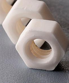 Applied Ceramics lug nut made from ceramics material